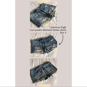 American Eagle women's denim low rise mini shorts